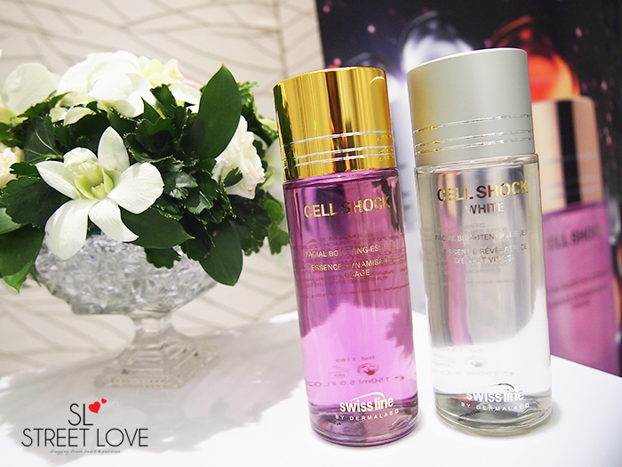 Swiss Line Cell Shock Facial Boosting Essence and Cell Shock White Facial Brightening Essence 2