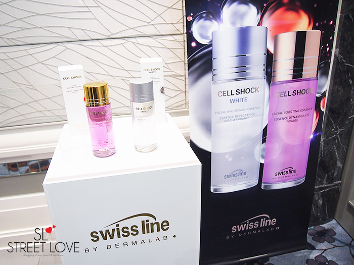 Swiss Line Cell Shock Facial Boosting Essence and Cell Shock White Facial Brightening Essence