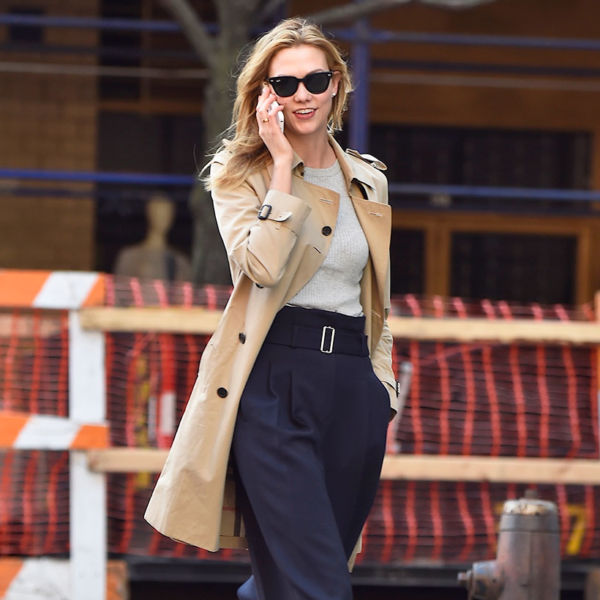 Karlie Kloss Burberry Trench