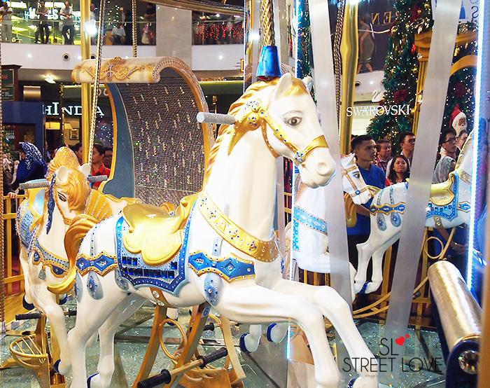 World's First Swarovski Crystallised Merry Go Round at Pavilion KL 5
