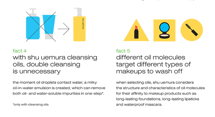 Shu Uemura Cleansing Oils Fact 4 and 5