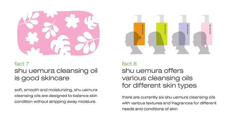 Shu Uemura Cleansing Oils Fact 7 and 8