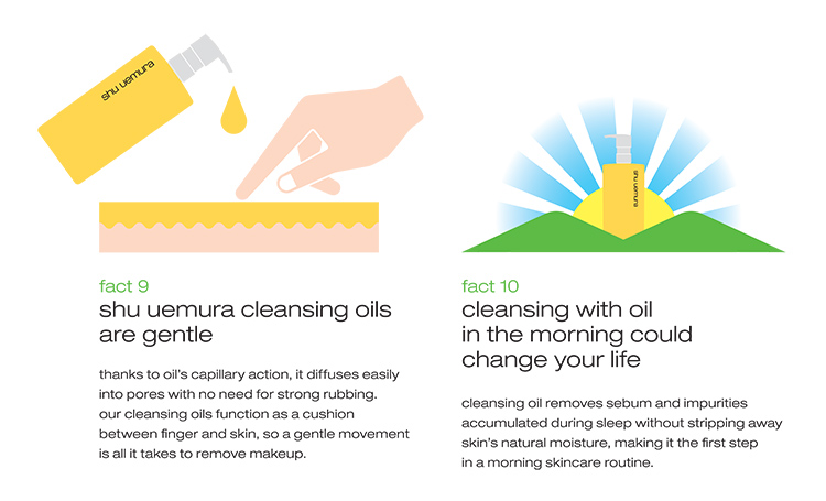Shu Uemura Cleansing Oils Fact 9 and 10