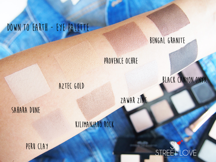 The Body Shop Down To Earth Eye Palette Main Swatches