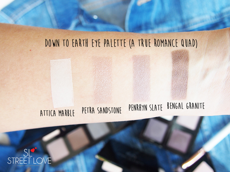 The Body Shop Down To Earth Eye Palette A True Romance Quad Swatches