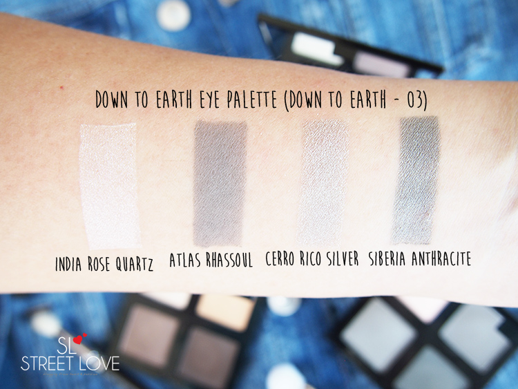 The Body Shop Down To Earth Eye Palette Down To Earth 03 Quad Swatches