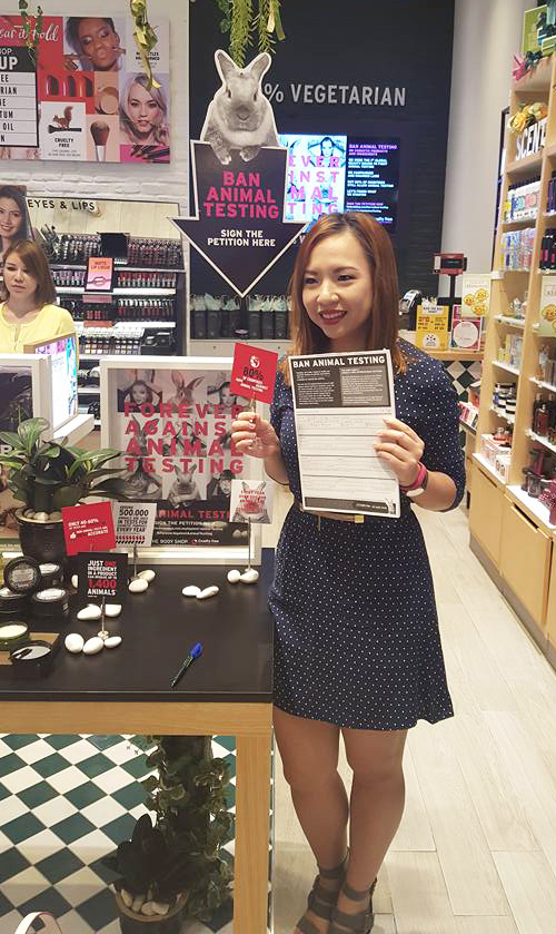 The Body Shop Forever Against Animal Testing Campaign Petition