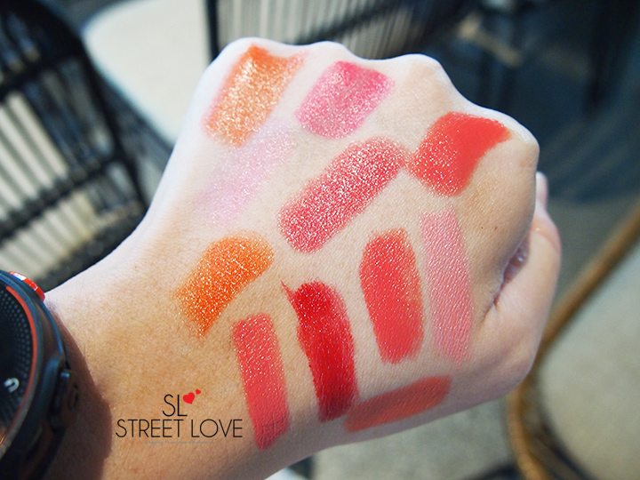 Mon Cheri Glowing Lipstick Swatches